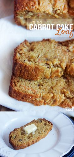 Paleo Carrot Cake Loaf - almond flour, coconut flour, carrots, applesauce, honey, eggs, coconut oil