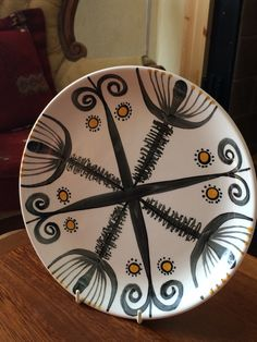 John Ffrench Arklow Studio Pottery - Abstract Plate