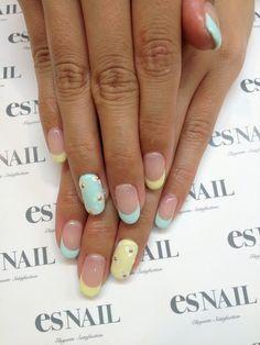 #nail #unhas #unha #nails #unhasdecoradas #nailart #gorgeous #fashion #stylish #lindo #cool #cute #fofo #pastel #floral #girlie #flores #flowers Nail
