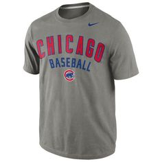 Chicago Cubs Nike Gray Away Practice T-Shirt