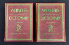 Webster's Dictionary New Twentieth Century First And Second 2nd Edition - 1964 in Books, Other Books | eBay
