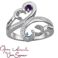 Open Hearts by Jane Seymour® Heart Mothers Ring