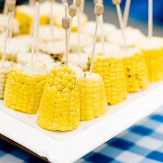 """Corn on the cob anyone? #birthdayparty food perfect for kids and adults. Photo by @angiesilvy #summer #corn #freshfood #veggies #healthy #foodie #summerfood #kids #parties #bbq #instafood #foodporn #plaid #gingham"" Photo taken by @amynicholsse on Instagram, pinned via the InstaPin iOS App! http://www.instapinapp.com (07/07/2015)"