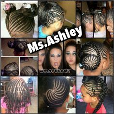 Corn rows for African-American Girl's Hair :)