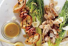 Salade #Cesar décomposée au poulet #bbq