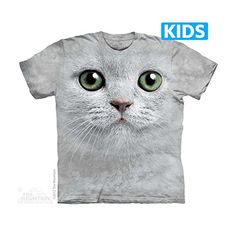 The Mountain Green Eyes Face Cat Chil... $11.90 #topseller