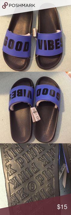949a6f81857 NWT Victoria s Secret PINK Slide Sandals brand new PINK pool slides