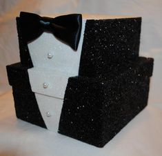 Tuxedo Gift Box Grooms Gift Box Groomsmen Gift Box Tuxedo Box Black Glitter Box Wedding Glitt - Tuxedo - Ideas of Tuxedo - Tuxedo Gift Box Groom's Gift Box Groomsmen Gift Box Tuxedo Box Black Glitter Box Wedding Glitt 60th Birthday Party, Man Birthday, Birthday Party Decorations, Birthday Favors, Groomsmen Gift Box, Groomsman Gifts, Tuxedo Card, Black Tie Party, Gift Card Boxes