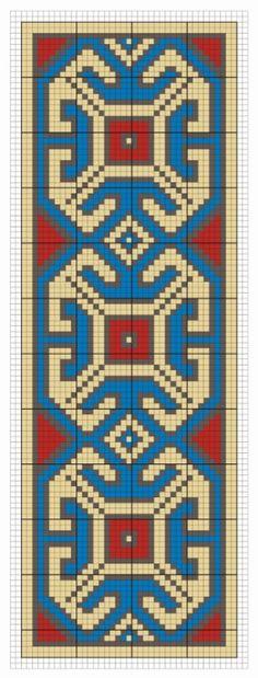 Bead loom, square stitch or perler pattern Beaded Cross Stitch, Cross Stitch Borders, Cross Stitch Designs, Cross Stitch Patterns, Tapestry Crochet Patterns, Bead Loom Patterns, Peyote Patterns, Inkle Weaving, Bead Weaving