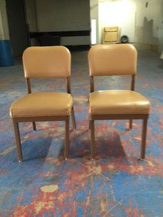 Allsteel Emeco style industrial tanker chairs  rare by VEEJAYB, $195.00