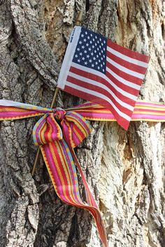 #CAP14Flag Saw this tied to a tree while I was at a cemetery in Longmont, CO paying tribute to some fallen veterans.  (Tammy Peeples on 4 September)