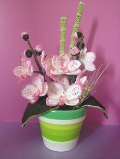 Free Crochet Pattern Orchidee : Een orchidee gehaakt. Mooi - Haken/Crochet - Bloemen ...