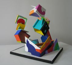 https://flic.kr/p/5Zaaf2 | Before the Bust, 2009 view two | painted cardboard sculpture