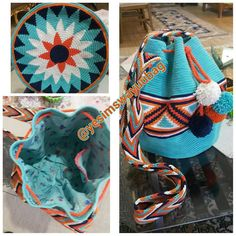 The Wayu Collection - Wayuu Mochila Australia by lucy Crochet Applique Patterns Free, Tapestry Crochet Patterns, Free Pattern, Crochet Dog Sweater, Knit Crochet, Mochila Crochet, Beadwork Designs, Tapestry Bag, Sewing Art