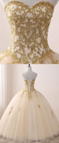 Fabulous Tulle Sweetheart Neckline Ball Gown Wedding Dress With Lace Appliques & Beadings