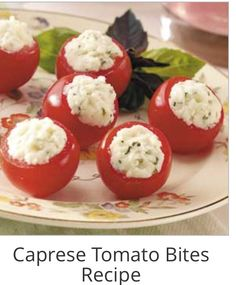 CAPRESE TOMATO BITES #Food #Drink #Trusper #Tip