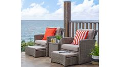 Rhode Island 5 Piece Outdoor Balcony Setting