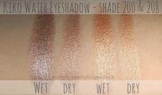 Kiko Water Eyeshadow In Shades 200 & 208 - Review & Swatches Makeup Kit, Beauty Makeup, Kiko Milano, Olive Skin, Makeup Swatches, Wet And Dry, Eyeshadow, Make Up, Shades