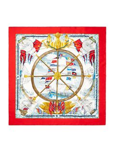 """Vive le Vent"" Silk Twill Scarf 90cm by Hermès at Gilt"