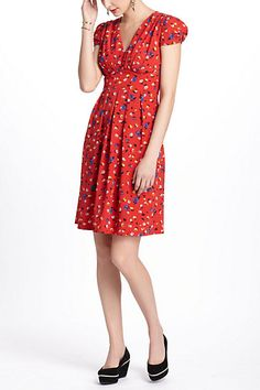 Basque Floral Dress from Anthropologie. Love the retro look.