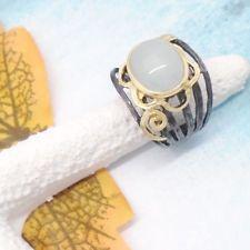 Aqua Chalcedon schwarz gold gothic Design Ring Ø 18,0 mm 925 Sterling Silber neu Aqua, Black Rhodium, Ring Designs, Gothic, Gold, Rings, Silver, Black, Goth