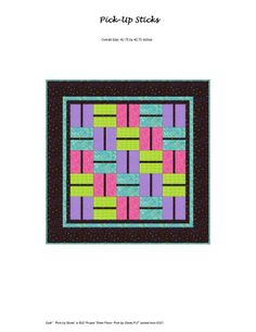 Pick up Stick quit pattern by Mary Ann Altendorf
