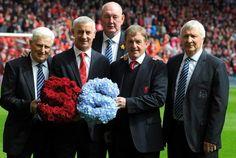 A day of remembrance by #LFC & #MCFC. Tony Book, Mike Summerbee, Joe Corrigan, Ian Rush & Kenny Dalglish today.