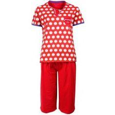 Nacht Eye-opener in Rood! - dames pyjama -