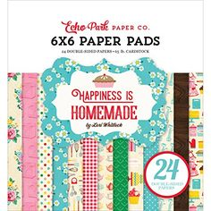 Echo Park Paper Company HIH118023 Paper Pad Happiness is Homemade 6x6 Paper Pad -- You can find out more details at the link of the image.Note:It is affiliate link to Amazon.