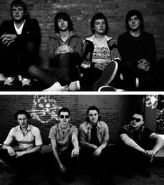 Arctic Monkeys then and now