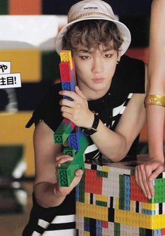 SHINee Key Seek Magazine Vol. 4 2014. Very Interesting LEGOKEY! Oh a Shawol should make a Lego chibi of Kibum (not me) and give him a Lego gun to hold:)