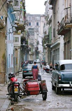Un imagen que mostra la pobreza de Cuba en parte a causa del embargo por los Estados Unidos.