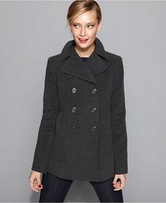 Kenneth Cole Pea Coat from Macy's in charcoal.