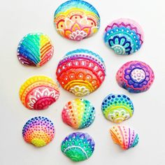 Sommerdeko basteln: 70 einfache Dekoideen zum Selbermachen - List of the most creative DIY and Crafts Easy Crafts For Teens, Crafts To Make, Kids Crafts, Kids Diy, Crafts Cheap, Decor Crafts, Seashell Painting, Seashell Art, Dot Painting