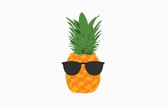 Cool Pineapple With Sunglasses