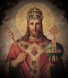 Jesus Christ Images, Jesus Art, Christ The King, King Jesus, Catholic Art, Religious Art, Mary And Jesus, Jesus Pictures, King Of Kings