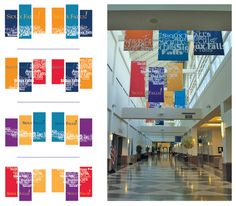 I don't know if this would work for us and our logo but I could see a couple different things. That a large photo was spread across 3 banners that are spaced somewhat apart so that at some points you can see the whole image and at some points you can only see some parts but it is still carrying the images through. Secondly, the sagemont logo could be done similarly to what they do here. repeated and stretched across