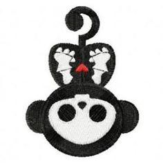 Embroidered Skelanimals Marcy the Monkey  Patch Badge Iron / Sew On Monkey Skull Monkey Skelaton