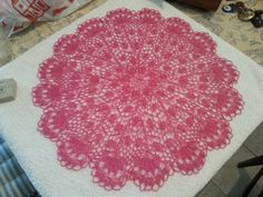 Knitted lace.  56 cm diameter