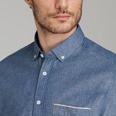 Japanese Selvedge Shirt in Blue