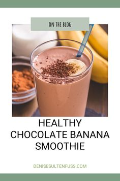 Scrumptious wholesome chocolate banana smoothie (Whole30 compliant/vegan/GF) that is packed with ingredients plucked from nature. #chocolatebananasmoothie #smoothie #whole30recipes #whole30 #Lymeeating #lymerecipes #antiinflammatory Low Calorie Liquor, Low Calorie Cocktails, Chocolate Smoothie Recipes, Chocolate Banana Smoothie, Fruit Smoothies, Healthy Smoothies, Healthy Drinks, Easy Healthy Recipes, Real Food Recipes
