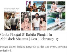 #geetaphogat #babitaphogat #phogatsisters at #event in #goa #abhisheksharma #abhishekstudio #elegant #fashion