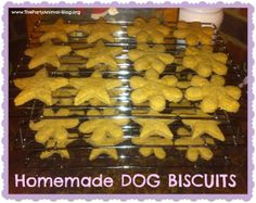 Easy homemade dog biscuits via The Party Animal
