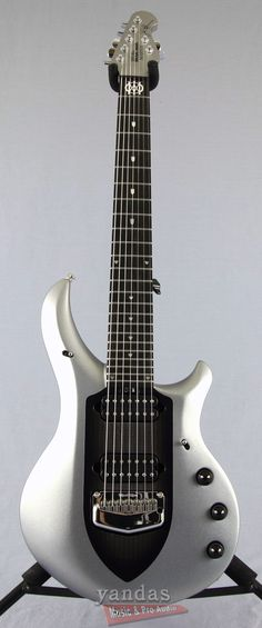 Music Man Majesty 7 John Petrucci Signature Guitar | Silver Lining Finish | Smooth Neck Thru!