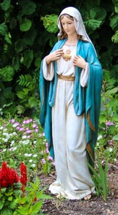 "We love this beautiful 37"" statue of the Immaculate Heart of Mary - we think you'll agree with us too"