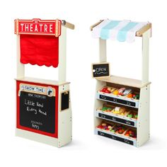 Tidlo Wooden Play Shop and Theatre Wooden Play Shop, Wooden Toys, Theatre, Kitchen Appliances, Box, Design, Shopping, Educational Toys, Building Toys