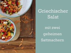 Salat mit roher Süßkartoffeln und Grünkern oder Quinoa