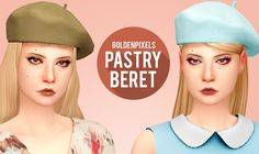 Sims 4 CC's - The Best: PASTRY BERET by goldenpixels
