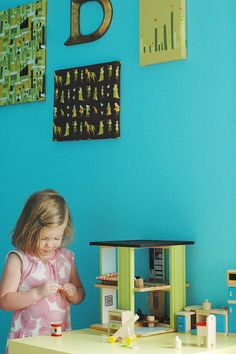 Upcycled - CD rack into dollhouse