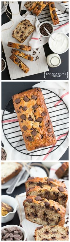 Banana and Oat Bread with Greek Yogurt #recipe #breakfast